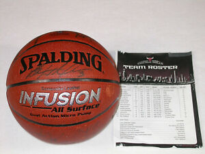 Autograph Signed Auto Chicago Bulls Team Signed Basketball 2007-08 Joakim Noah