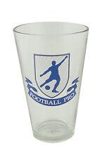 Football Beer Glass - Soccer - holds 440ml - footballer design drinking glass
