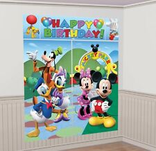 MICKEY MOUSE CLUBHOUSE SCENE SETTER Birthday Party Wall Decoration Room Decor