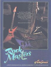 ARIA PRO II PINUP PRINT AD vtg 80s Guitar ZZ Custom Bass ROCK MASTERS