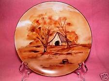 PAINTING ON A PLATE Vintage ARTIST SIGN #2 Country Home