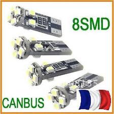 2 Ampoules ultra puissantes ANTI ERREUR ODB 8 LED T10 culot  W5W SMD Blanc Xenon