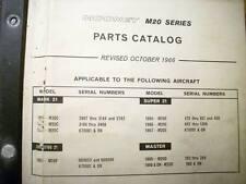 1965 - 1967 Mooney M20C, M20E, M20F & M20D Parts Manual