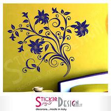 Wall Stickers  Adesivi Murali Fiori Decorazione Casa Ornamento Carta da Parati