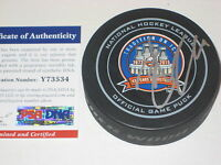 JOHN TAVARES Signed New York ISLANDERS Tradition Official GAME Puck w/ PSA COA