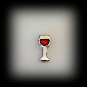 Wine Glass Floating Charm
