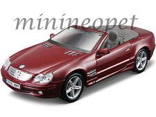 MAISTO 36623 MERCEDES BENZ SL CLASS 1/18 DIECAST MODEL CAR DARK RED