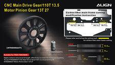 ALIGN T-Rex 700E/800E CNC Slant Thread Main Drive Gear/110T H70G008AXW New
