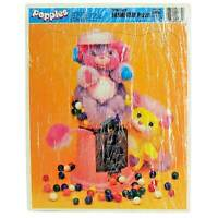 Vintage 1987 86 Original Popples Candy Gumball Machine 22 Piece Jigsaw Puzzle
