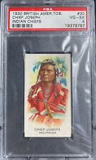 1930 British American Tobacco (BAT) Indian Chiefs CHIEF JOSEPH #30 PSA 4 VG-EX