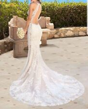Beautiful White Kittychen Jazlyn Wedding Dress, lace, open back, Elegant Gown
