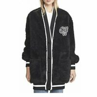 OFF-WHITE Faux Fur College Cardigan Coat Size 38 Orig. $1385 NWT