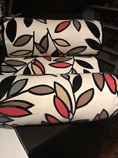 4 Custom Decorative Bolster/Neck Pillows Made In US Cotton Blend/Raised Velvet