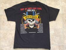 Guns N Roses 2016 Not in This Life Time Tour T Shirt Size L LA Atlanta Houston