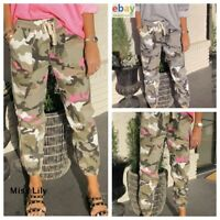 Womens UK Joggers Pants Summer Autumn Sport Military Army Trousers Camo Casual
