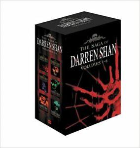 The Saga of Darren Shan Box Set 1-6 Horror Master Cirque Du Freak 6 Vol Box Set