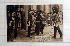 1937 Queen Mary Greeting Officers St Davids Day Parade Wellington Barracks