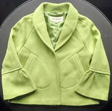 5d81271779a SKY-GOOD apple lime green JACKIE O jacket coat snap buttons 3 4 sleeve