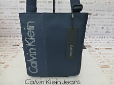 CALVIN KLEIN Slim Body Bag K50 Blue Shoulder Tablet Flat CrossOver Bags BNWT