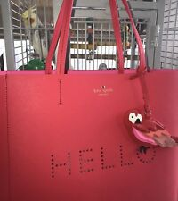 Kate Spade Leather Hello Parrot Tote