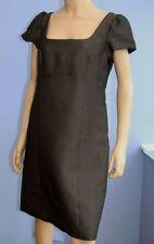 Square Neck Work Patternless Short Sleeve Dresses for Women
