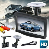 5 Inch HD Screen Monitor For Car Rearview Reverse Backup Parking Camera Cam IU