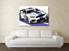 Ford Mustang Race Car 30x20 Inch Canvas - Framed Picture Print