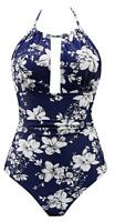 Womens One Piece Swimsuits Tummy Control Swimwear Backless V Neck Suit Type5 2XL