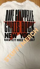 DAVE CHAPPELLE CHRIS ROCK OFFICIAL 2017 RADIO CITY NYC TOUR T-SHIRT S M or L