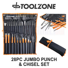 Toolzone 28pc Jumbo Punch & Chisel Tool Set, Punches and Chisels PN006