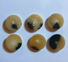 6 Ox HORN SPACER and/or CAPPING Discs Black and Straw for STICK MAKING Craft