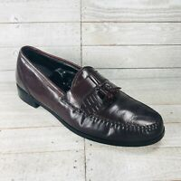 Mens Vintage Towncraft Kiltie Tassle Loafers 9.5 D Cordovan Burgundy Leather