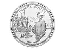 1 $ PROOF Silver Dollar 240th Capitaine Cook Nootka Sound Canada 2018 PP Argent