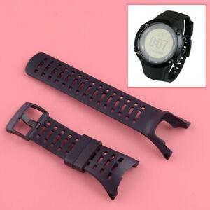 Bracelet de montre souple noir pour Suunto Ambit 1, 2, 3 Peak 2S