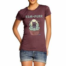 Twisted Envy Women's Van Purr Cupcake Funny Cotton T-Shirt