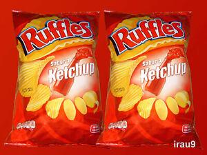 Ruffles chips Ketchup 2x 170g Corrugated and Crisp Contains Sugar