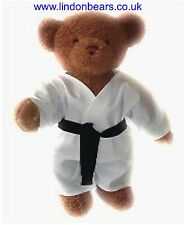 """A NEW LINDON JOINTED TEDDY BEAR IN SPORTING JUDO OUTFIT 16"""" / 40CM TALL"""