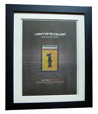 JAMIROQUAI+Travelling Moving+POSTER+AD+RARE ORIG 1996+FRAMED+EXPRESS GLOBAL SHIP