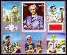 Sharjah 1972 ** bl.101 Boy Scout scouts Scouting
