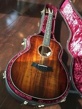 2016 k66e taylor 12 string guitar with AA Koa top and Back
