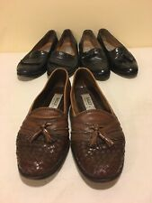 Vintage Bally shoes Men Size 7 Lot Of 3 Pairs Black Brown Loafers Woven Tassels