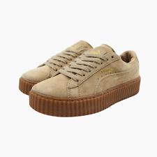 Puma Rihanna Fenty Suede Creepers Womens Trainers UK 4 Oatmeal Sneakers 361005