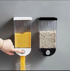 Ryori Dispenser da cucina per cereali e alimenti secchi con contenitori ermetici in plastica trasparente ottimo per il controllo delle porzioni e per mantenere i cibi freschi Singolo bianco