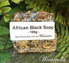 100g - Organic Raw African Black Soap -Premium Quality From Ghana
