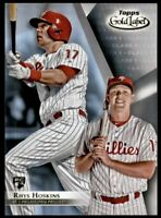 2018 Topps Gold Label Class 1 RHYS HOSKINS Rookie #78 Philadelphia Phillies RC