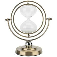 15 Minutes Rotating Sand Hourglass,Metal Hour Glass Sand Timer  Home Decor