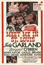 Meet Me in St. Louis Movie POSTER 27 x 40, Judy Garland, A, LICENSED, USA, NEW !