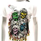 m244 Minute Mirth T-shirt Sz M L Tattoo Skull Boy Band Rock Ghost Funny Present