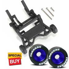 Traxxas Black Wheelie Bar/Blue Alum Wheels & Rubber Tires: Stampede VXL /Bandit
