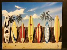 SURF BOARDS Starting Lineup glacoide art poster Plage Barre en Métal Wall Decor